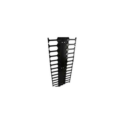Excel 6U Plastic Finger Management for CR/ER – Black