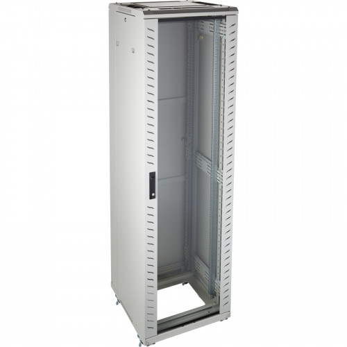 Environ CR600 20U Rack 600x600mm Glass (F) Steel (R) B/Panels No/Mgmt Grey White