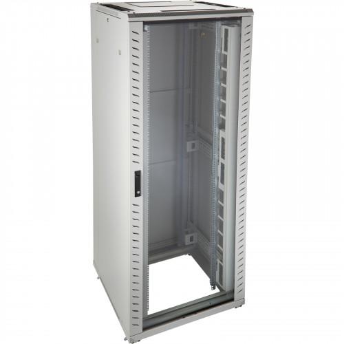 Environ CR800 24U Rack 800x600mm Glass (F) Steel (R) B/Panels F/Mgmt Grey White