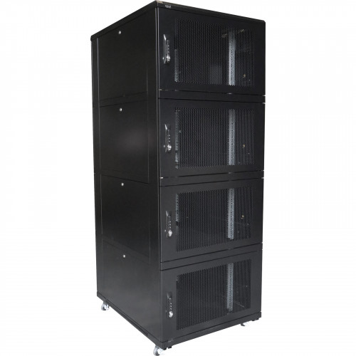 Environ CL800 47U Co-Location Rack 800x1000mm (4 Compartments) Vented (F) Vented (R) B/Panels B/Central-Mgmt Black - F/Pack