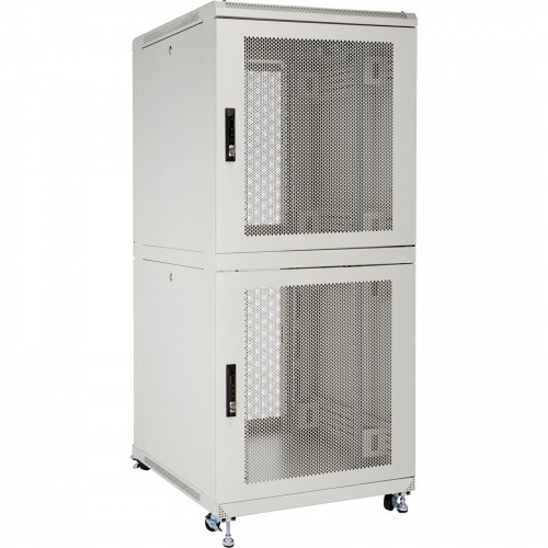 Environ CL600 47U Co-Location Rack 600x1000mm (2 Compartments) Vented (F) Vented (R) B/Panels R/Central-Mgmt Grey White - F/Pack