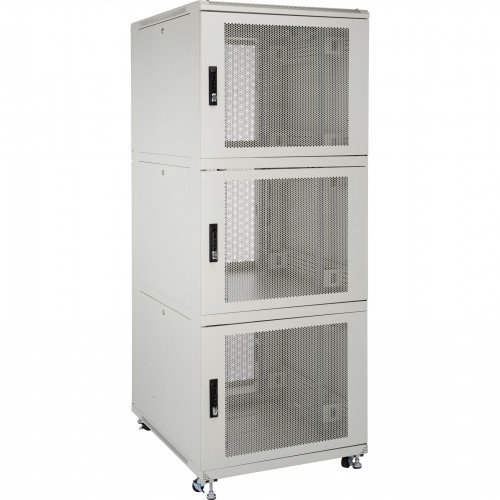 Environ CL600 47U Co-Location Rack 600x1000mm (4 Compartments) Vented (F) Vented (R) B/Panels R/Central-Mgmt Grey White - F/Pack