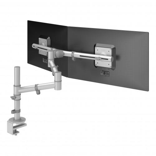 DataFlex 48.132 Viewgo Monitor Dual Arm Desk Mount - Silver