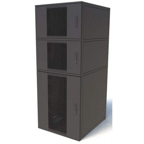 CL4288-3 Keyzone CL4288-3 42U 800mm(W) x 800mm(D) 3 Compartment Co Location Rack