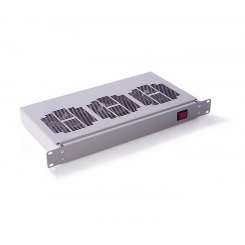 "DR-RMFT-3 Keyzone3 Way 19"" 1U Rack mounted fan tray  (Grey)"