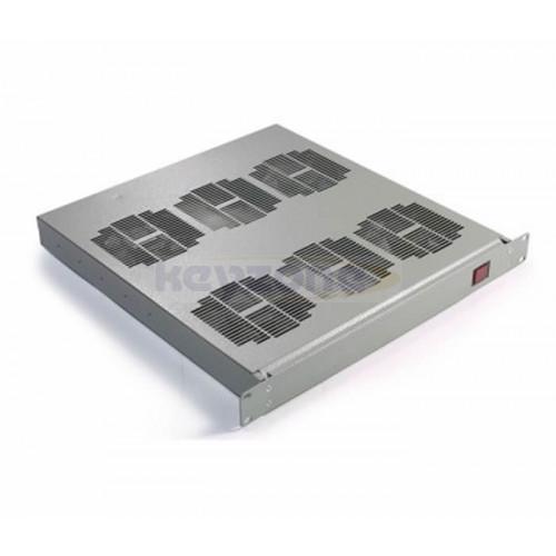 "DR-RMFT-4 Keyzone 4 Way 19"" 1U Rack mounted fan tray  (Grey)"