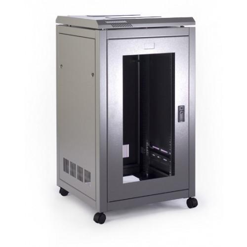 Prism CAB1868 Prism Pi Data Rack 18u 600mm (w) x 800mm (d) Internal usable depth 690mm, glass front door, steel rear door, grey