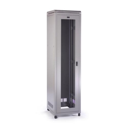 Prism CAB4568 Prism Pi Data Rack CAB4568 - 45U 600mm(W) x 800mm(D) Goose Grey with glass front door & steel rear door